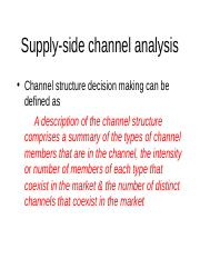 5.Supply-side channel analysis