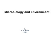 Microsoft PowerPoint - Microbiology and Environment [
