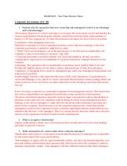 MGMT439 exam 3 review sheet strat mgmt 2016