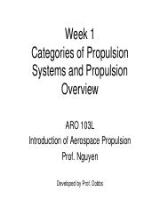 Week1 -Categories of Propulsion Systems-R2