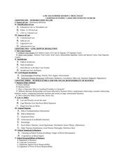LAW 1101-SUMMER 2011 CLASS OUTLINE
