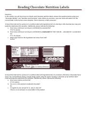 Activity 1 Reading Chocolate Nutrition Labels.docx