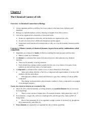 Biol 1107 Ch2 Reading Guide