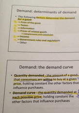 ECO B0000 Notes on Determinents of Demand