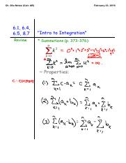 Ch. 06a, Basics of Integration