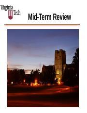 MidTerm_PrepSpring2017 - Mid-Term Review AGENDA Mid-Term ...