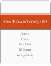 Gate or structural level Modeling