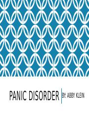 Panic disorder project [Autosaved].pptx