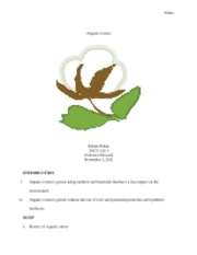 Research paper- Organic Cotton