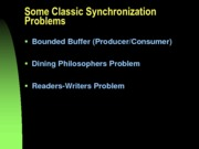 CSCI 3120 classic synchronization problems