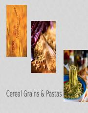 NHM250- Starch and cereals