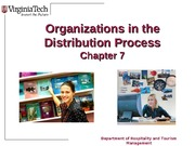 Chapter 7 Organizations in the Distribution Process