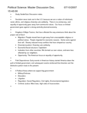 Political Science Master Discussion Doc