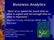 Business Analytics Introduction(3)