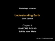Chapter 4a - Igneous Rocks
