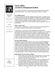 U of C Cover Letters for Undergraduates-2010 rev (1)