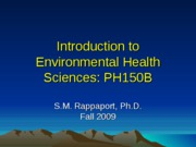 Lecture 1_Introduction to Environmental Health Sciences_Aug 27
