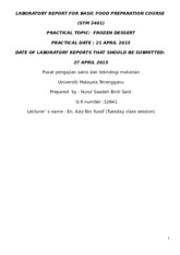 7) LABORATORY REPORT FOR BASIC FOOD PREPARATION COURSE