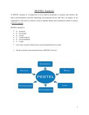 A PESTEL analysis is a framework or tool used by marketers to analyse and monitor the macro.docx