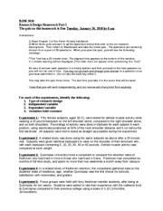 Research Design HW Part I 2010