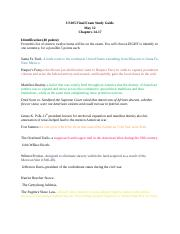 US105 Final Exam Study Guide