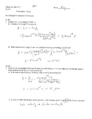 CHEM 114 - Quiz 3 with Answers