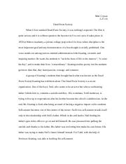 dead poets society paper