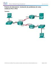 6.5.2.5 Lab - Troubleshooting IPv4 and IPv6 Static Routes.docx