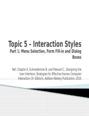 5-InteractionStyles1_Menu Selection, Form Fill-in and Dialog Boxes