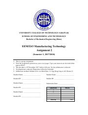 EEM3243 ASSIGNMENT 2 -MANUFACTURING TECHNOLOGY.pdf