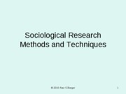 201.04 Sociological Research Methods