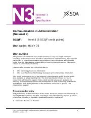 CfE_Unit_N3_AdministrationandIT_CommunicationinAdministration