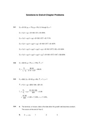 Chapter 9 Homework Problems Solutions