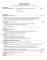 BA101 Freshman Resume Mistakes