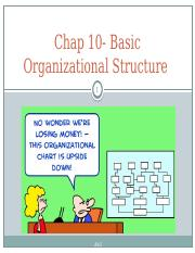 Chap 10- Basic Organizational design.pptx