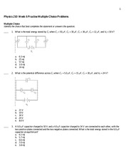 Physics 210 Practice Question 6 and Solutions