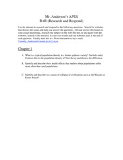 Research and Respond Chapter 1