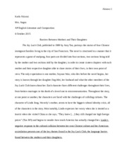 College Essay Paper Format The Joy Luck Club Essay  Alcaraz  Karla Alcaraz Mrs Angus Ap English  Literature And Composition  October  Barriers Between Mothers And Their Proposal For An Essay also Essay On Business Ethics The Joy Luck Club Essay  Alcaraz  Karla Alcaraz Mrs Angus Ap  English Essay Books
