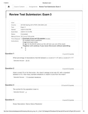PSYC 354 Review Test Submission Exam 3