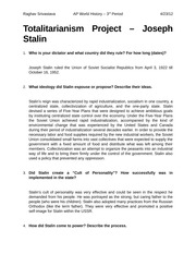 Totalitarianism Project