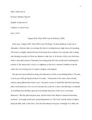 Analysis of a Short Story.docx