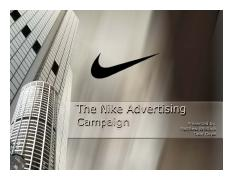The Nike Advertising Campaign