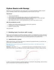 Programming Assignment_Python Basics with Numpy_#1.pdf