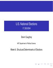 Structural Determinants of Elections