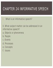 Chapter 24 Informative Speech.pptx