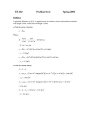 EE 164 Problem Set 2 Solution