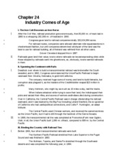 APUSH Chapter 24 - Chapter 24 Industry Comes of Age I The