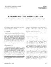 Pulmonay Infections in DM.pdf