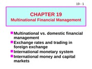W13 ffm919 Multinational Financial Management
