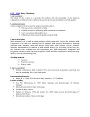 FST2306- Dairy Chemistry Notes.doc